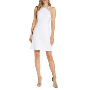 Lilly Pulitzer Pearl Stretch Shift White Dress 8